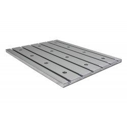 "Cast Aluminium T slot Plate ""low profile"" 6060"