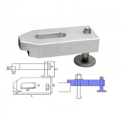 Height adjustable cast aluminum clamp M12