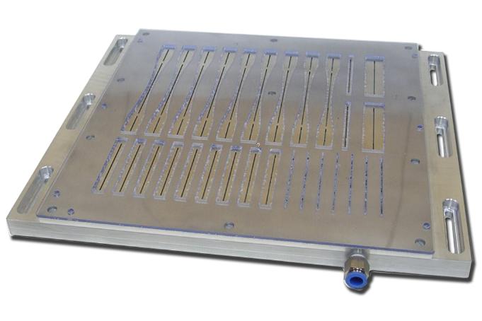 Custom vacuum table design for RAL
